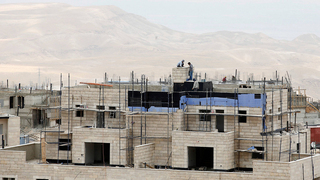 Construction in the West Bank settlement of Maale Adumim