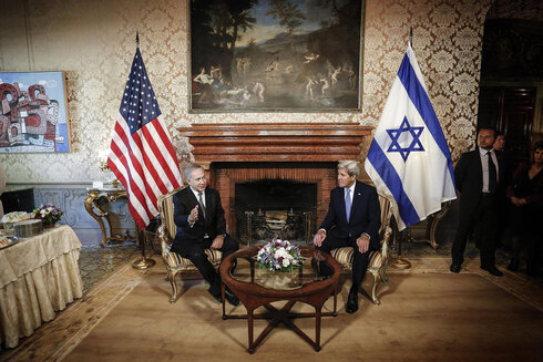 Prime Minister Benjamin Netanyahu meeting with then-secretary of state John Kerry in 2016