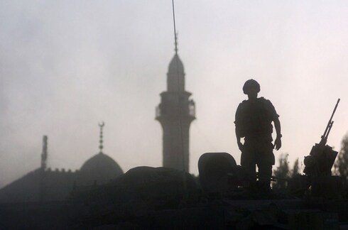 An IDF soldier during the Battle of Bint Jbeil in southern Lebanon, one of the main battles of the Second Lebanon War  in 2006