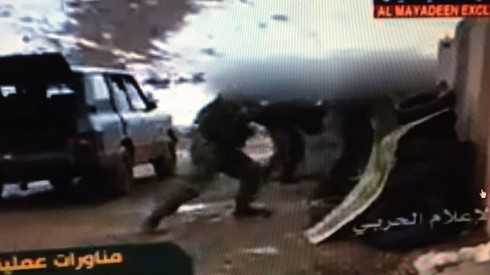 A Hezbollah training exercise in the use of anti-tank missiles broadcast on the Lebanese Al Mayadeen network