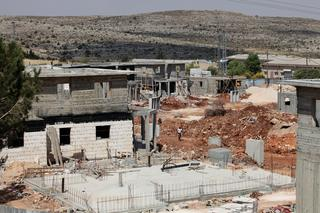 Construction of homes in the West Bank settlement of Ofra