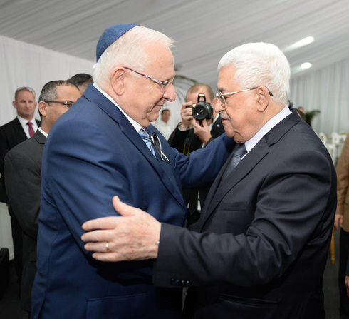 President Reuven Rivlin and Palestinian Authority President Mahmoud Abbas