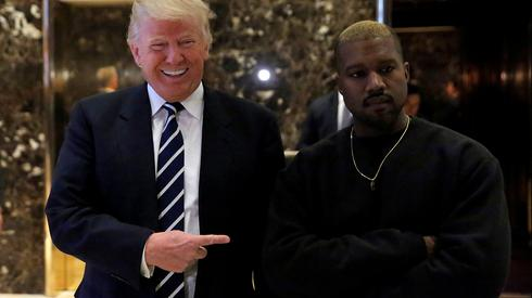 Rapper Kanye West with President Trump
