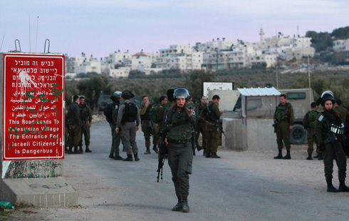 An IDF checkpoint in the West Bank