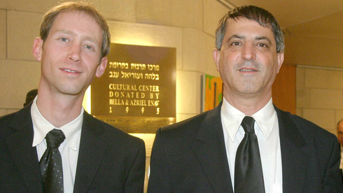 The suspect's lawyers Avi Chimi and Moshe Weiss