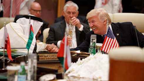 Outgoing U.S. President Donald Trump with UAE Crown Prince Sheikh Mohammed bin Zayed