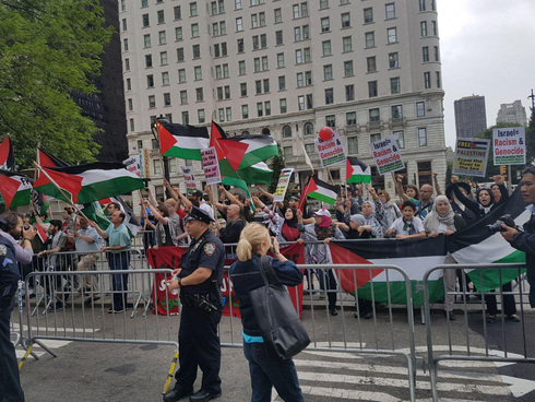 Anti-Israel rally in New York in 2017