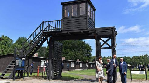 The entrance to Stutthof concentration camp