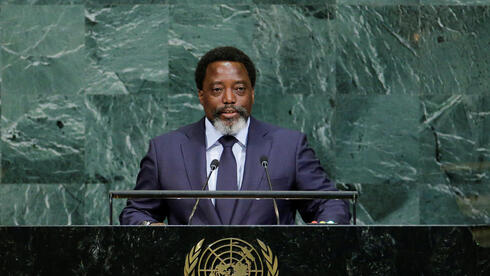 Former Congolese president Joseph Kabila during his 2017 address to the UN