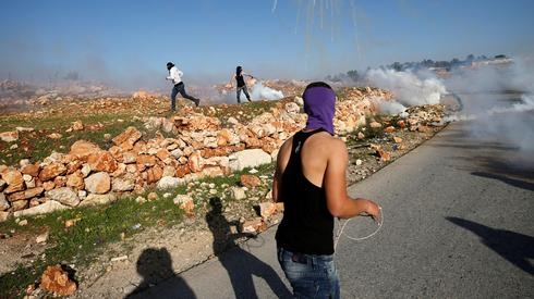 Protests between Palestinians and IDF in the West Bank