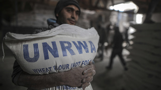 Flour delivered by UNRWA to Palestinian residents of refugee camps in Gaza in 2018