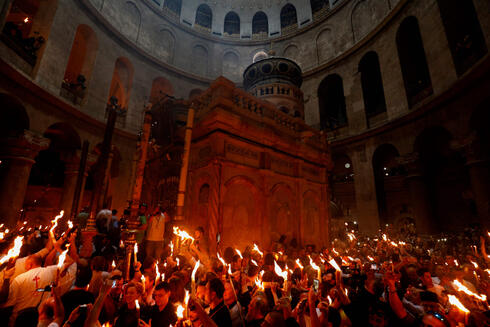 Holy Fire ceremony at Church of the Holy Sepulchre in Jerusalem