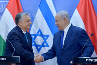 Hungarian Prime Minister Viktor Orban meeting with Benjamin Netanyahu during a visit to Israel in 2018