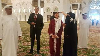 Minister Miri Regev visits the Sheikh Zayed Mosque in the UAE in 2018