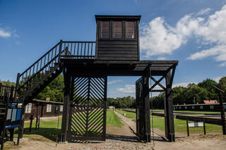 The former Nazi German Stutthof concentration camp in Sztutowo, Poland