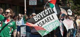 BDS protest calling for a boycott of Israel