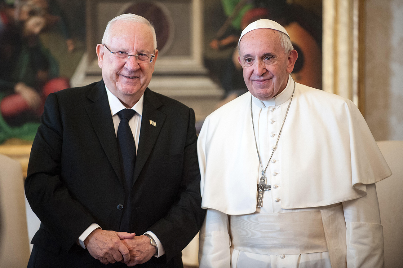President Reuven Rivlin and Pope Francis