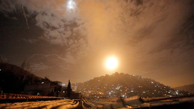 A purported IDF airstrike against targets in Syria