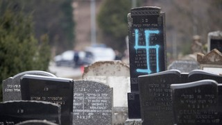 A Jewish cemetery desecrated in France near the city of Strasbourg