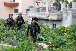 IDF soldiers during an operation in Nablus