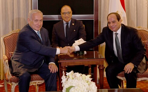 Netanyahu and Sisi at the UN General Assembly in Sept. 2018