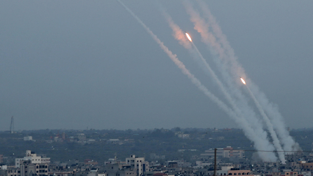 Rocket fire from Gaza at Israeli residential areas