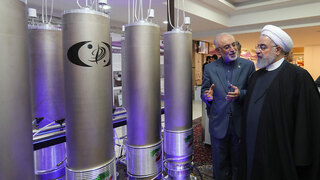 Iran's President Hassan Rouhani visits one of the country's nuclear sites
