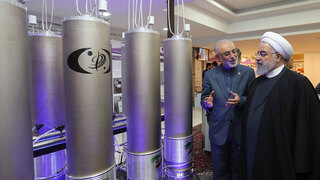 Iranian President Hassan Rouhani in one of the country's nuclear sites