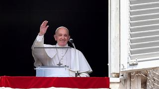 Pope Francis during a Sunday mass in St. Peter's Square