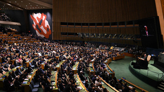 A meeting of the UN General Assembly in 2019