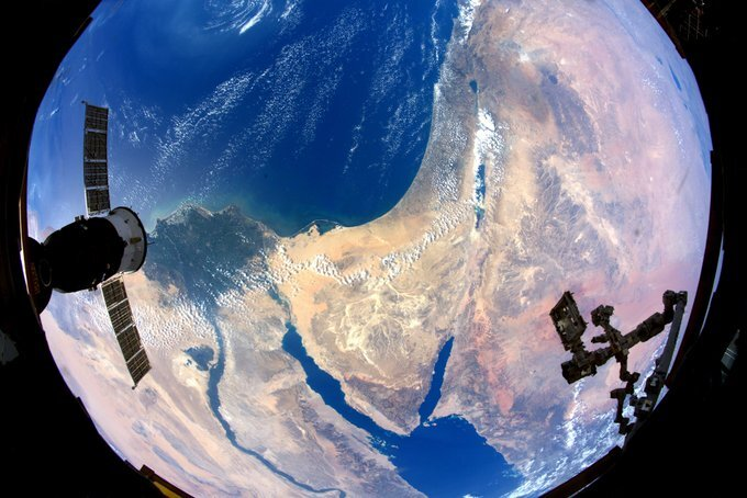 Israel as seen from the International Space Station
