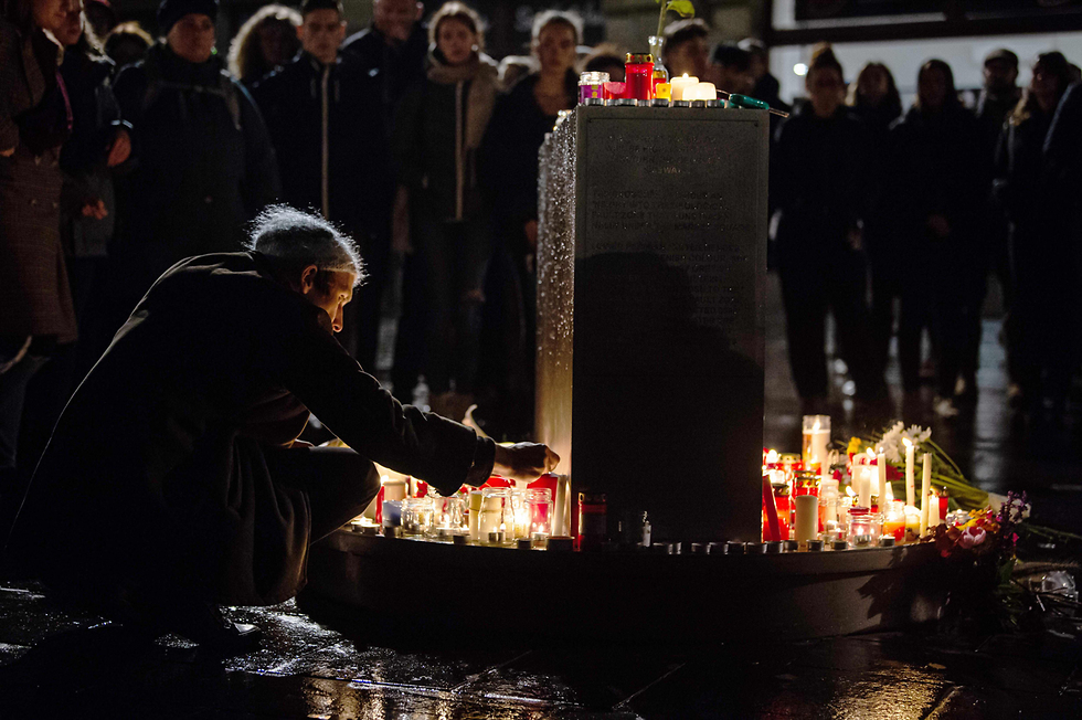 Vigil in Berlin in honor of the victims of the Halle synagogue attack