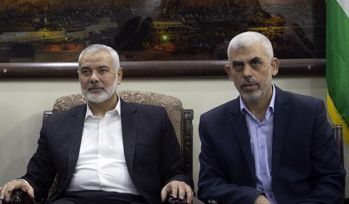 Head of Palestinian Election Comittee meets Ismail Haniyeh and Yahya Sinwar