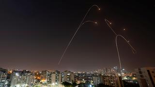 Archive: The Iron Dome missile defense system intercepts rockets over Ashkelon