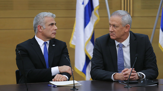 Blue and White leaders Benny Gantz and Yair Lapid