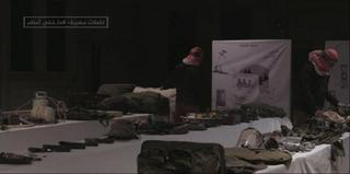 A still image taken from the Al-Jazeera report purports to show IDF listening devices seized by Hamas in Gaza