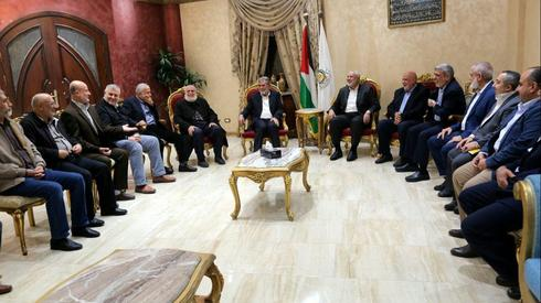 The heads of the Palestinian factions in Gaza meeting with Egyptian officials in Cairo this week