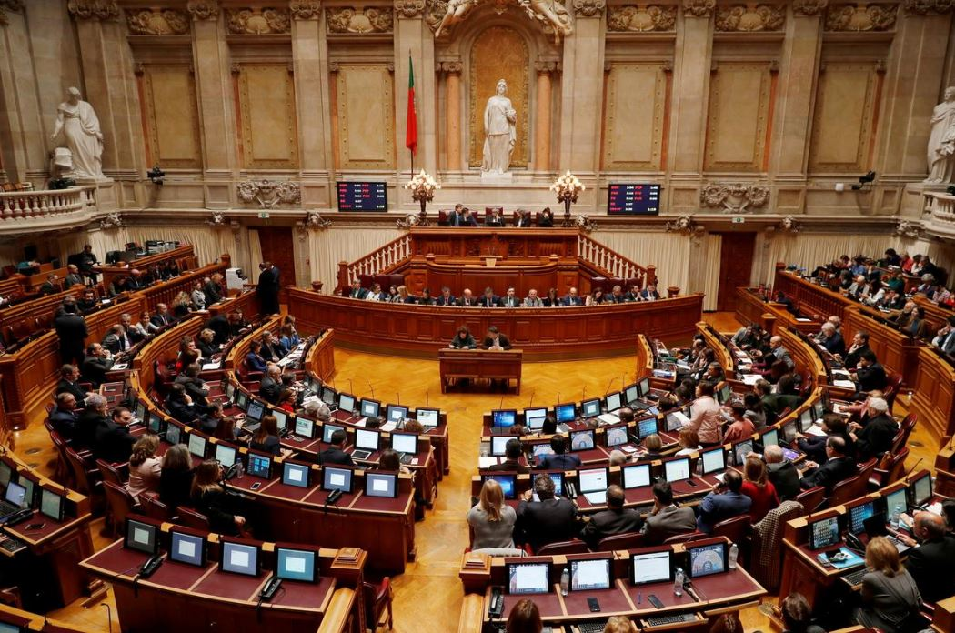 The Portuguese Parliament hall in Lisbon during a debate on the state budget