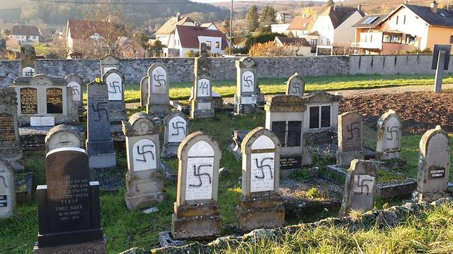 The defaced graves in Strasbourg