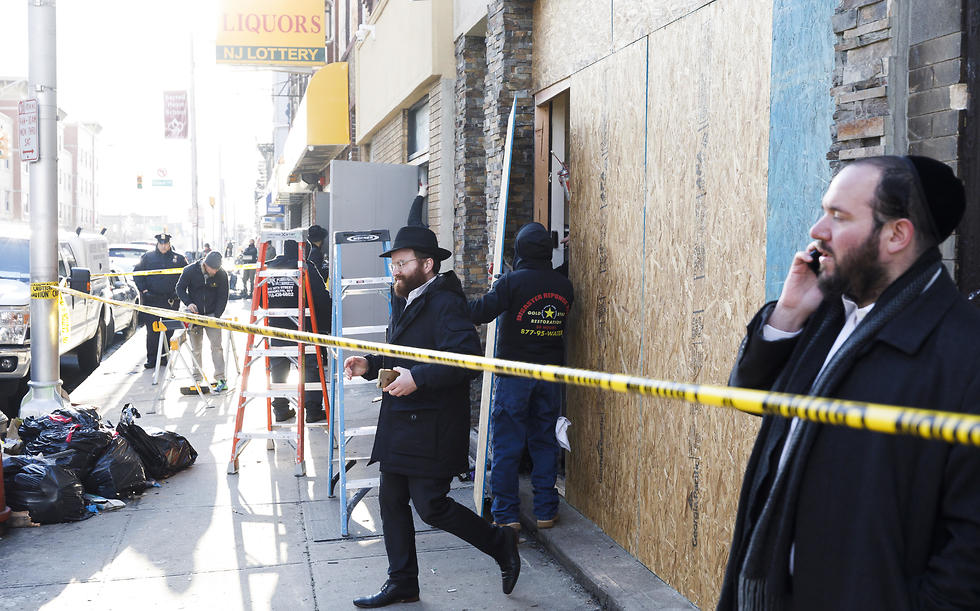 The scene of the shooting at the New Jersey kosher grocery market