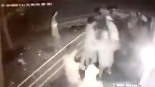 Footage of the assault