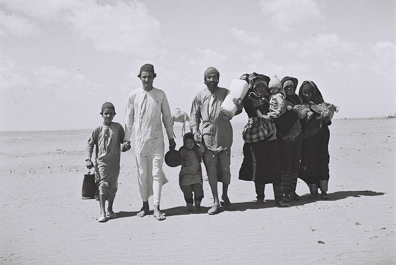 A Yemenite Jewish refugee family on their way to Israel via the port of Aden
