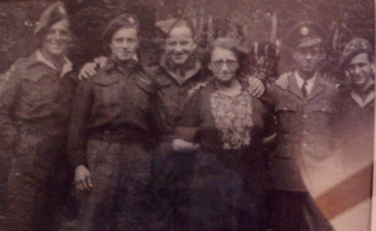 My great-grandmother and her soldier sons during WWII