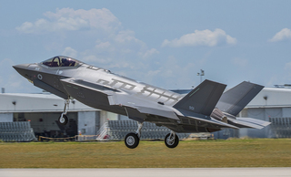 An F-35 fighter jet belonging to the Israeli Air Force