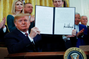U.S. President Donald Trump signs an executive order adopting the internationally recognized definition of anti-Semitism