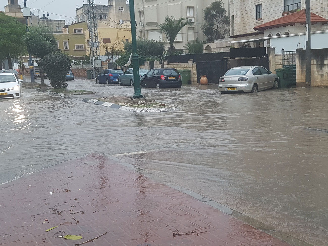 Flooding in Tayibe