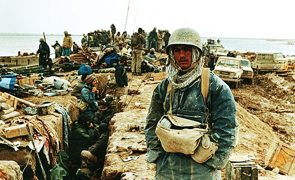 Iranian Troops in Forward Trenches during Iran Iraq War