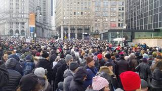 The solidarity march in New York