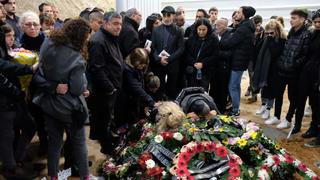 The funeral for Dean Shoshani and Stav Harari
