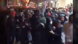Authorities fire tear gas at protesters in Tehran